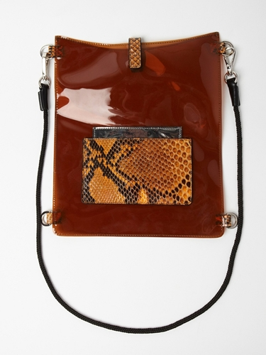 Jil Sander Men s Transparent PVC iPad Case in orange at oki ni