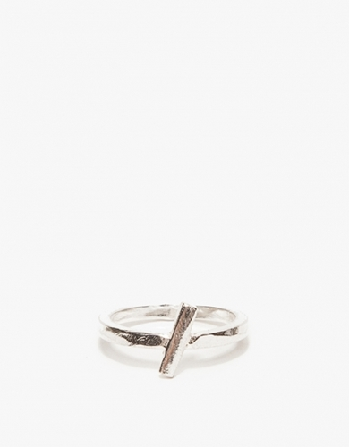 Slash Ring In Silver
