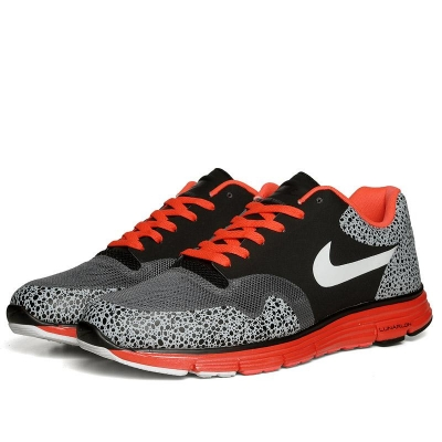 Nike Lunar Safari Fuse Black White Bright Crimson