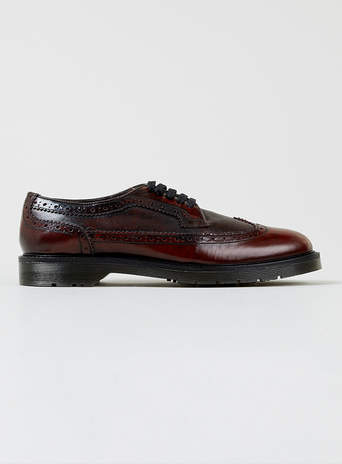Howes Burgundy Leather Brogues Brogues Shoes And Accessories Topman