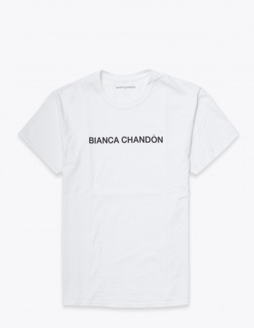 Bianca Chand On Logotype T Shirt White Tres Bien