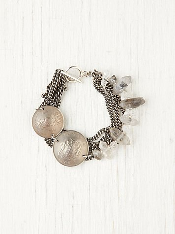 Ax Apple Coin Crystal Bracelet at Free People Clothing Boutique