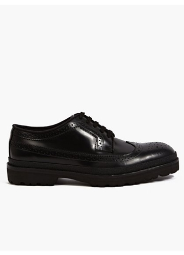 Men's Black Leather Brogues
