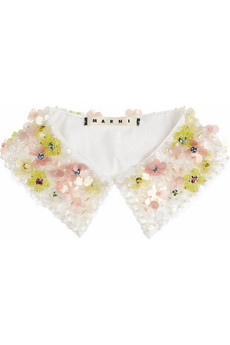 Marni Embellished cotton poplin collar NET A PORTER COM