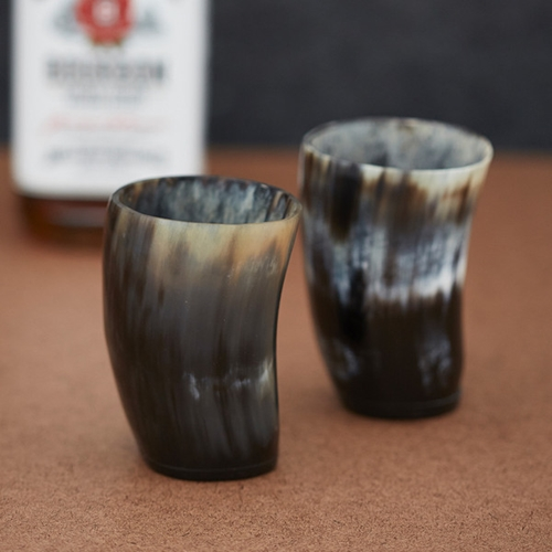 Steer Horn Drinking Cups 2 Pack Cool Material