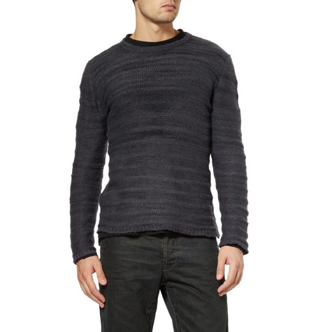 The Elder Statesman Ridge Crew Neck Cashmere Sweater MR PORTER