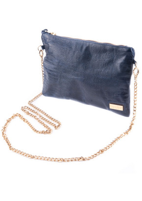 Black And Brown Lyla Clutch Bag In Navy