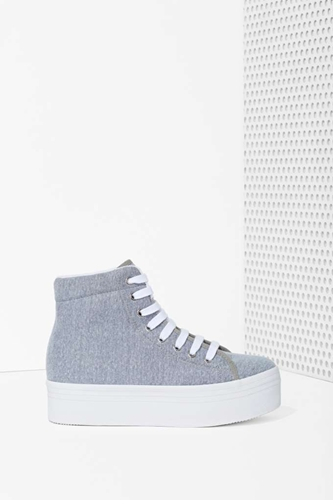 Jc Play By Jeffrey Campbell Homg Platform Sneaker Gray Shop Shoes At Nasty Gal
