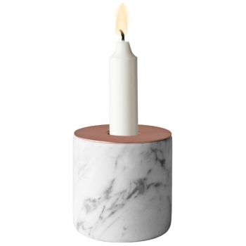 Chunk Of Marble Candleholder L Copper Menu Chunk Candleholders Decoration Finnish Design Shop