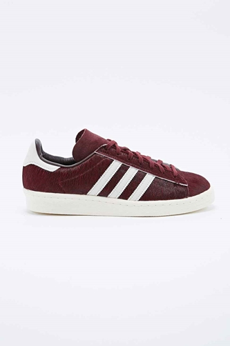 Adidas Sneaker Gazelle Mit Ponyfell In Burgunderrot Urban Outfitters