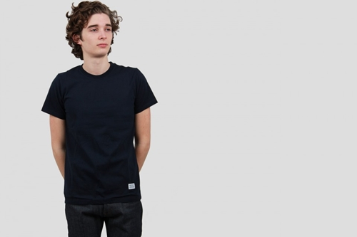 Norse Projects Niels Basic Tee Navy Nouveautes