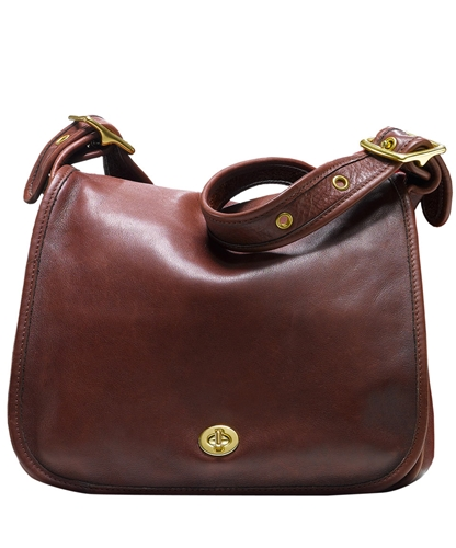 Brown Stewardess Shoulder Bag Coach Shop the latest Coach collection at Liberty co uk