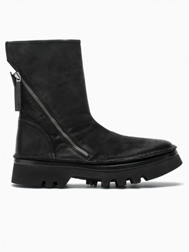 Diagonal Zip Boots From F W2014 15 Bb Washed In Black