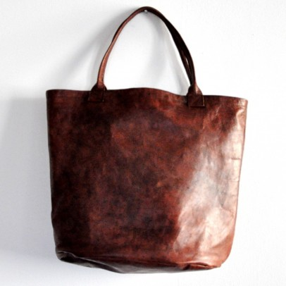 Brown Bucket Leather Bag Vdc For La Liane