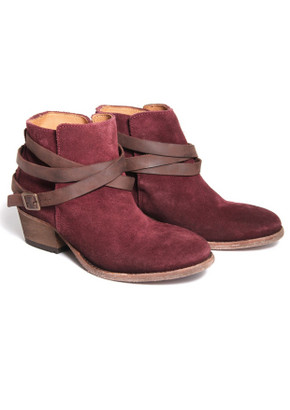 H By Hudson Horrigan Ankle Boot In Bordo