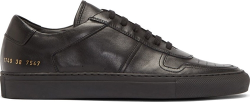 Common Projects Black Leather Low Top Basketball Sneakers