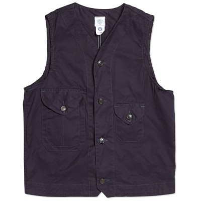 Post Overalls Cruzer Vest Navy Supreme Twill