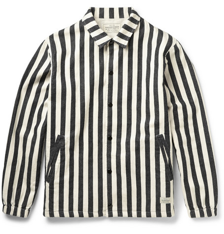Neighborhood Striped Cotton Twill Jacket Mr Porter