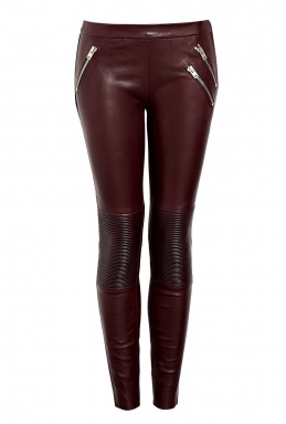 Joseph Zip Detail Spark Leather Trousers by Joseph