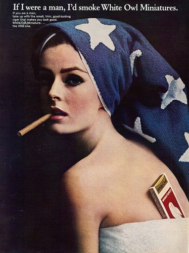 White Owl Cigar Woman Towel Smoking Ad If I Were A By Stillsoftime
