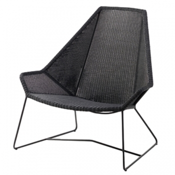 Breeze Highback Chair Black Outdoor Furniture Outdoor Finnish Design Shop