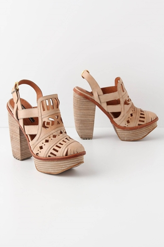 Ecru Clipped Heels Anthropologie com