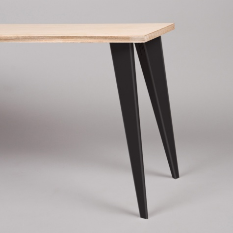 Petites Production Pair Table Legs Black