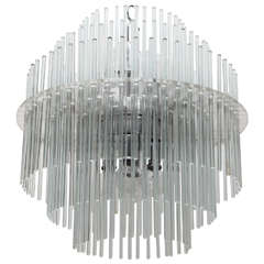 Lucite Rod Chandelier By Gaetano Sciolari For Lightolier