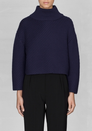 Other Stories Cropped Wool Sweater