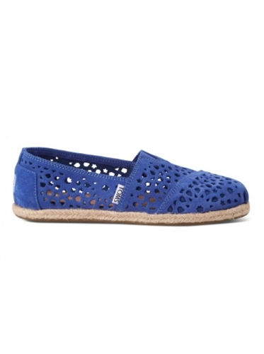 Shoes Toms Blue Moroccan Cutout Women's Classics