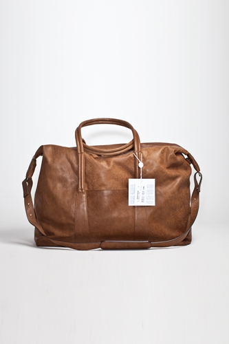 Maison Martin Margiela Travelling Bag Brown Leather TRES BIEN