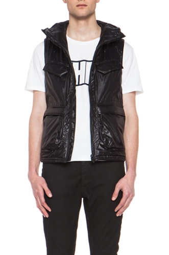 White Mountaineering Primaloft Nylon Air Vest In Black