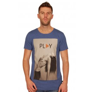 Dead Legacy Play T Shirt In Blue Buy Now At Aphrodite Menswear Online UK