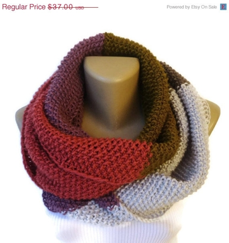 On Sale Knit Colorful Infinity Scarf Knit Women By Senoaccessory
