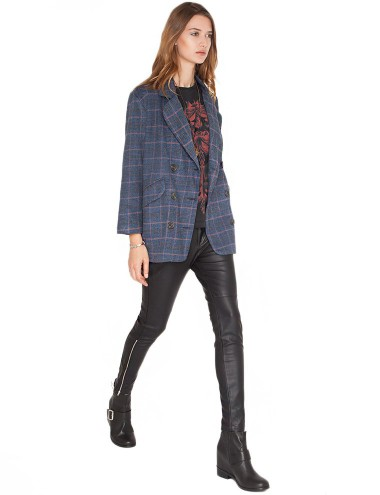Boyfriend Plaid Coat Boyfriend Blazer Plaid Wool Coat 77