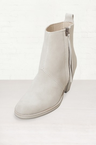 Buy Womens Acne Light Grey Pistol Short Ankle Boots Start London