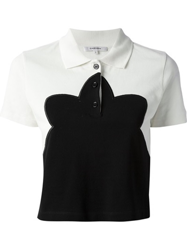 Carven Cropped Polo Shirt Babylon Bus Women Farfetch.Com