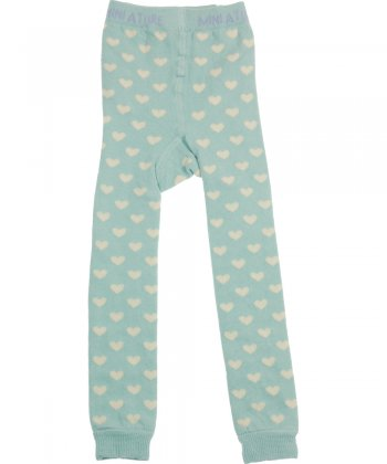 Blue hearts Ela knit leggings by Mini A Ture