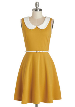 Work To Play Dress In Goldenrod