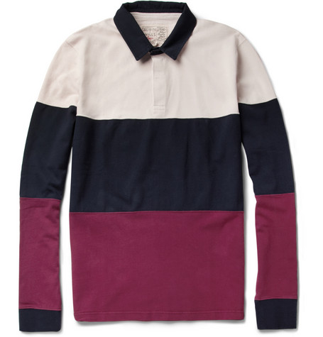 Aubin Wills Rutherglan Striped Cotton Rugby Shirt MR PORTER