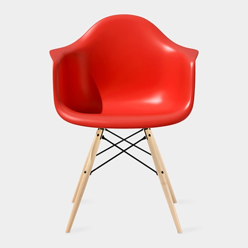 Eames Molded Plastic Armchair with Dowel Leg Base MoMA Store