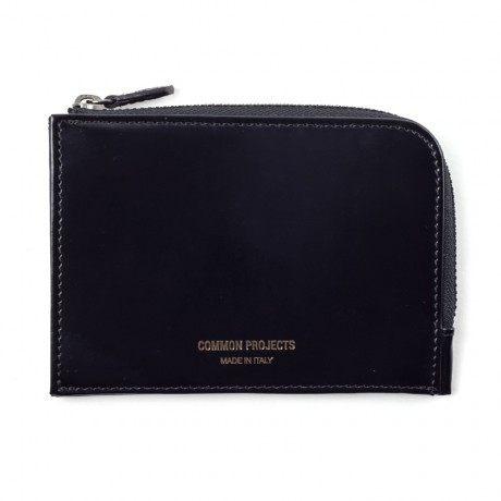 Common Projects Black Leather Zipper Wallet