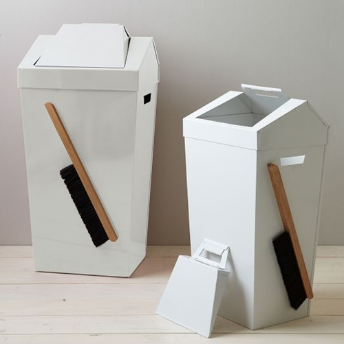 Brendan Ravenhill Dustbins White West Elm
