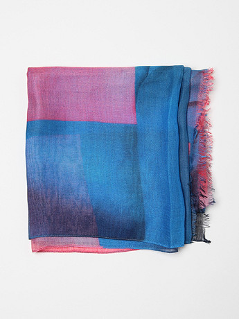 Paul Smith Men s Print Scarf in blue print at oki ni