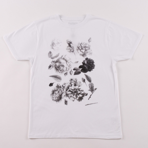 Soulland Roses T Shirt White
