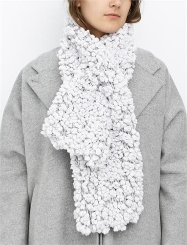 Mm6 By Maison Martin Margiela Hairy Scarf Chalk