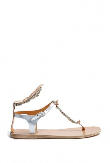 Chrysso Metallic Beaded Sandal By Ancient Greek Sandals
