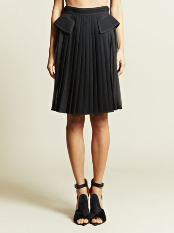 Givenchy Women's Pleated Skirt Ln Cc