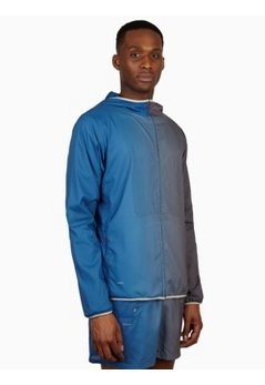 Men's Blue Grey As Uc Convertible Sweat Map Jacket
