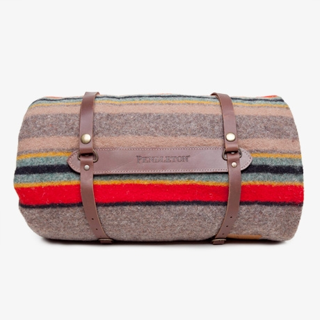 Poketo Pendleton Camp Blanket With Carrier Mineral Umber
